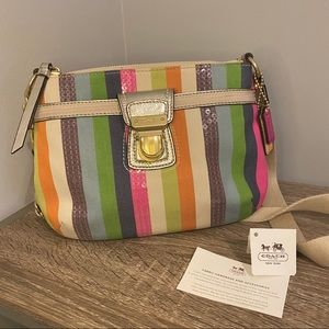 Coach Multicolored Sequin Crossbody